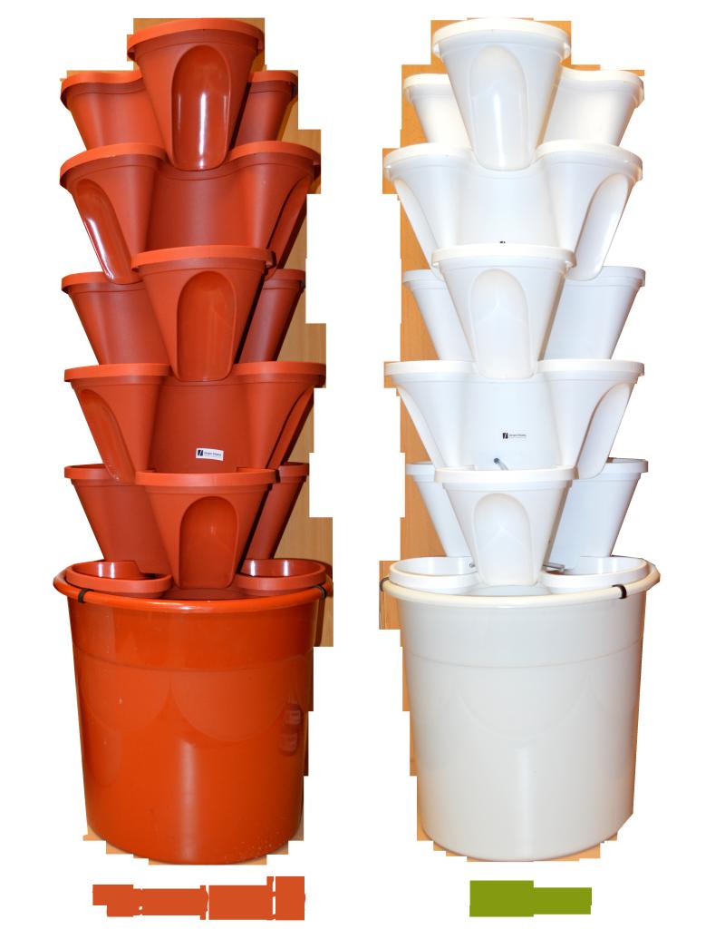 blanco y terracota ecogarden kit